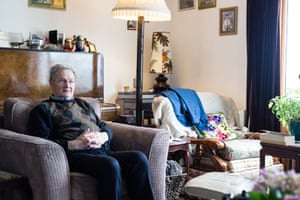 Kenny MacKay, the former postman, at home in Rhenigidale.