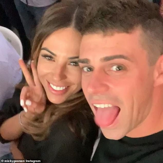 New couple! Stacey's ex-'husband', Michael Goonan (right), finally went public with his new girlfriend, KC Osborne (left), following Sunday night's season finale
