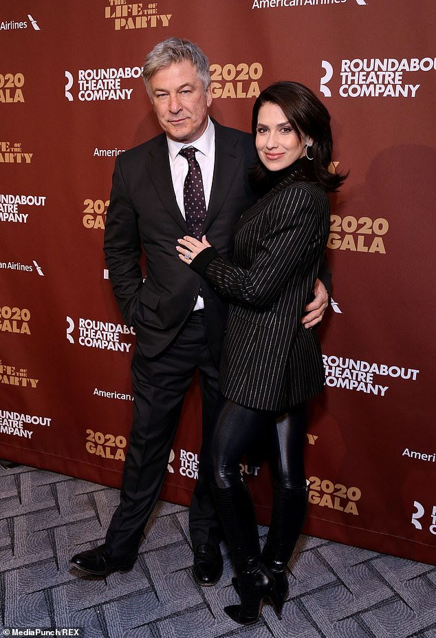 Already with child: The star couple were see in New York City on March 2 for the Roundabout Theatre Company's Annual Gala
