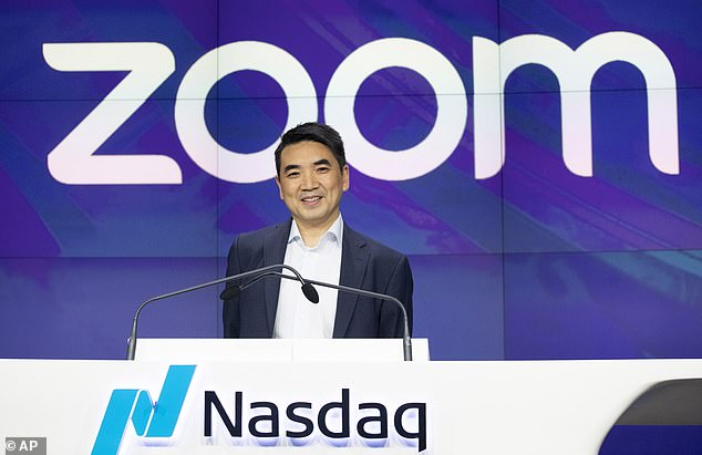Zoom CEO Eric Yuan (pictured) assured the public that privacy is of upmost importance to the firm and revealed features that will keep internet trolls at bay. Yuan explained that users can create passwords for meetings, waiting rooms and lockdown each session