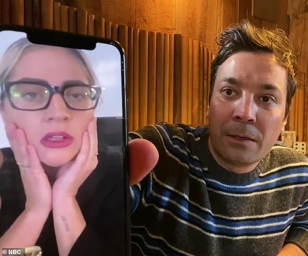 Car crash: The troubles with last week's 'interview' [above] began when Gaga -whose real name is Stefani Germanotta- seemed totally unprepared for Jimmy's on-air FaceTime call
