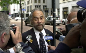 Chong leaves the federal court in Pittsburgh in 2003 after pleading guilty to conspiring to sell drug paraphernalia.