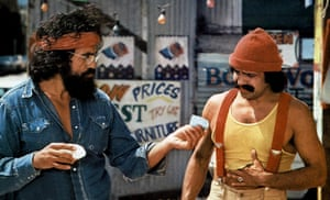 Roll up, roll up ... Chong and Marin in the 1978 comedy Up in Smoke.