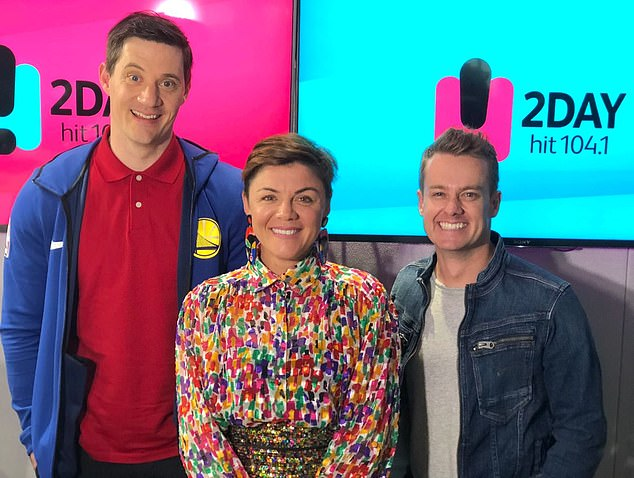 'That's not what I agreed to do': Em said in July last year that she had felt 'ripped off' when Grant Denyer (right) and Ed Kavalee (left) were drafted in as co-hosts by SCA management