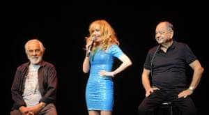 Tommy and Shelby Chong and Cheech Marin perform at the Cheech & Chong show in New Jersey in 2018.