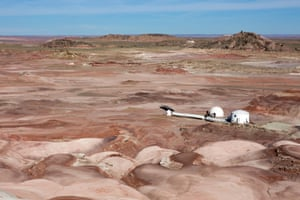 The Mars Desert ResearchStation in a remote cornerof the Utah desert.