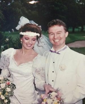 Julia & Paul Miller on their wedding day