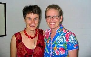 Deb and Di in Brisbane in 2004