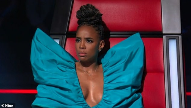 'She was displaying a lot of bosom!' Lawsie raised eyebrows this week when he went on a bizarre rant about The Voice judge Kelly Rowland (pictured)