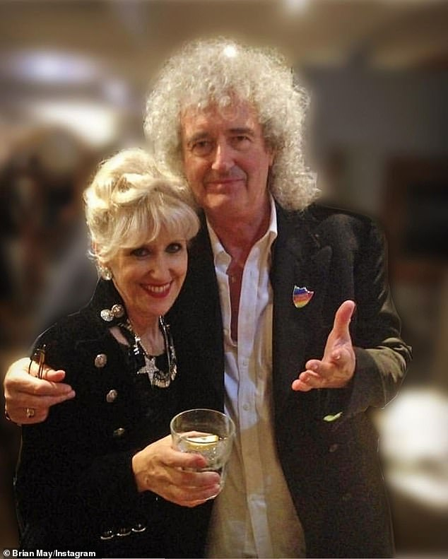 Couple:Brian, who is married to former EastEnders star Anita Dobson, 71, previously said the nerve pain caused by his gardening injury 'paralysed my brain'