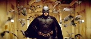 Christian Bale in Batman Begins.
