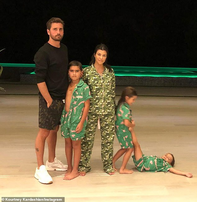 Their brood: Though never married, Scott dated Kris' eldest daughter Kourtney from 2006 through to 2015, with the relationship producing three children: sons Mason, ten, and Reign, five, as well as daughter Penelope, seven