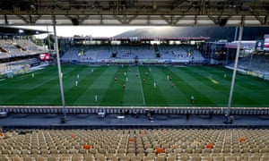 A general view during the Bundesliga match between Sport-Club Freiburg and Bayer Leverkusen.