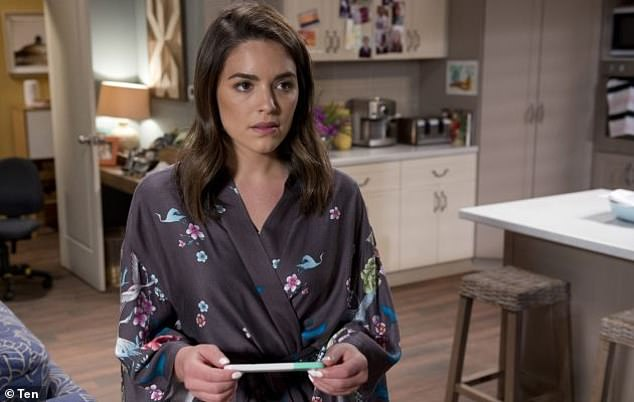 Not quitting her day job:The actress and model still plays Paige Smith in Channel 10's soap opera Neighbours
