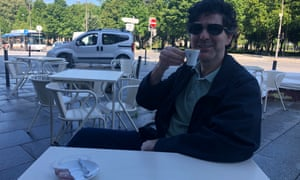 The writer's friend, José, joins him for coffee.