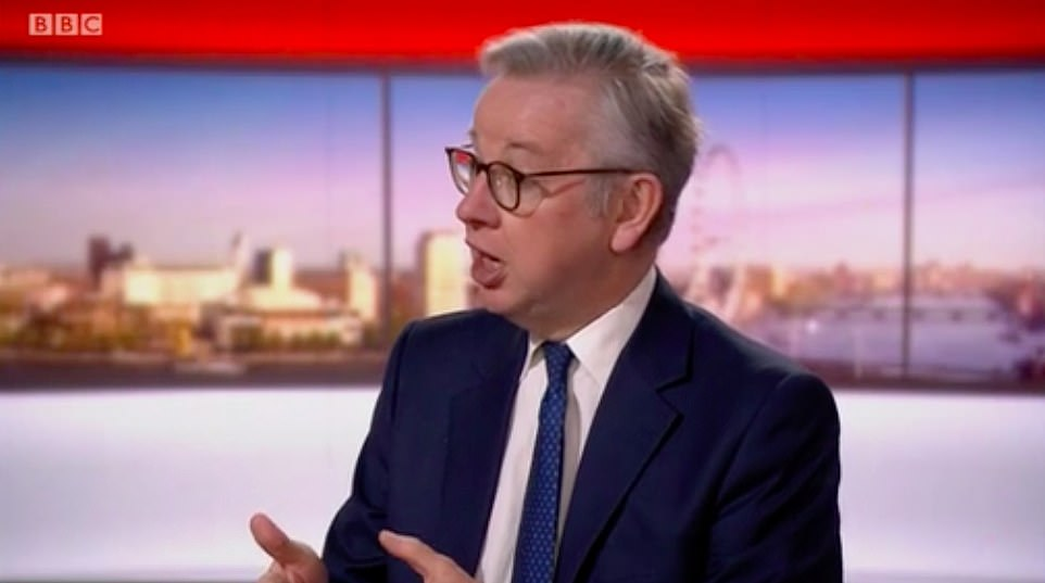 Michael Gove today initially guaranteed the safety of returning teachers before then admitting that there will be some 'risk'