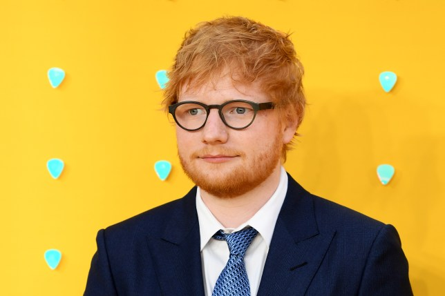 Ed Sheeran on the red carpet