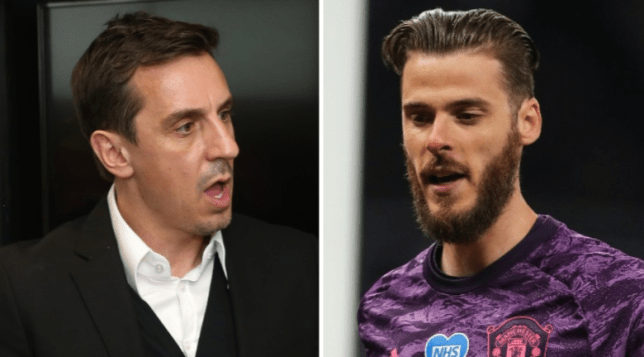Manchester United legend Gary Neville has sent some advice to David de Gea after his poor performance against Tottenham in the Premier League