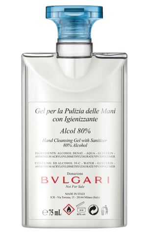 In May, Bvlgari donated over 160,000 units of medical-grade hand sanitiser to the NHS in recycled bottles