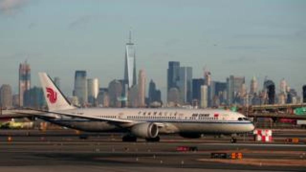 Air China plane in New Jersey