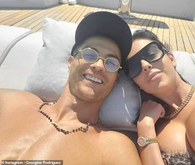Sun-soaked: The model, 26, and theJuventus striker, 35, have been enjoying a holiday in Portofino