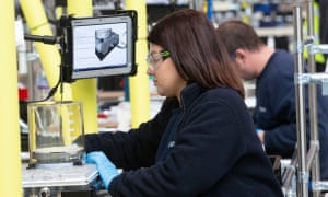 Airbus engineers working on ventilators for hospitals in their AMRC centre during the pandemic