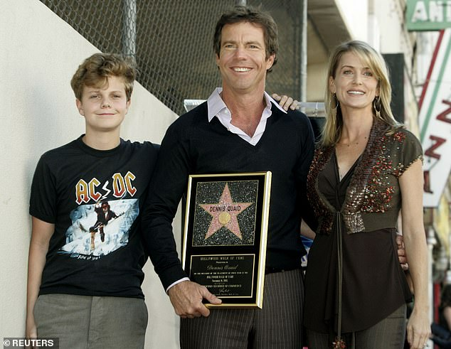 Past:Dennis married for the third time to Texas real estate agent Kimberly Buffington on July 4, 2004 at his Paradise Valley, Montana ranch; pictured with his son Jack and Kimberly at his Hollywood Walk Of Fame ceremony on November 16, 2005