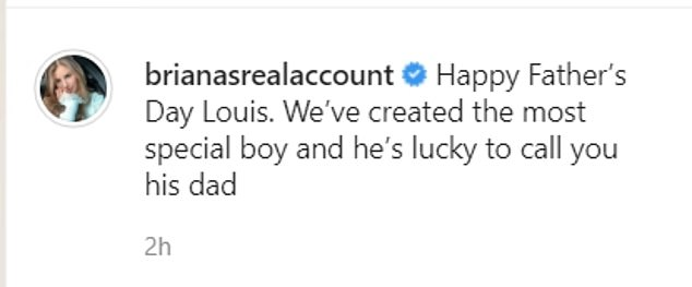 Good terms: She wished the One Direction star happy Father's Day at the weekend with a sweet post on social media