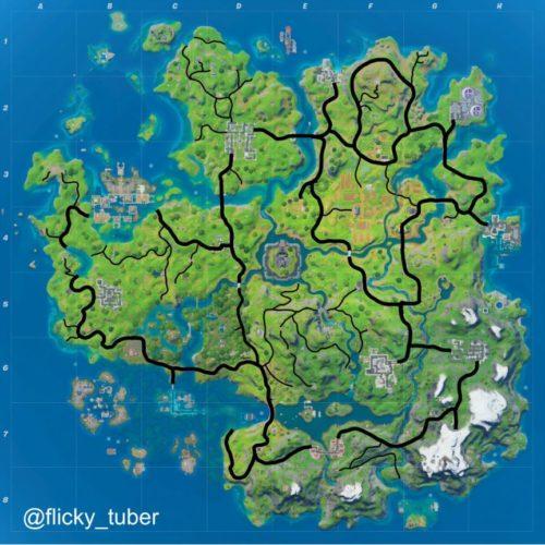 fortnite vehicle rotation map