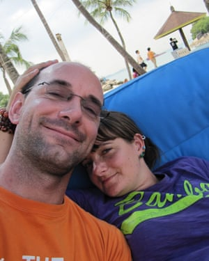 Scott and Kate in Singapore in 2011, en route to Sydney