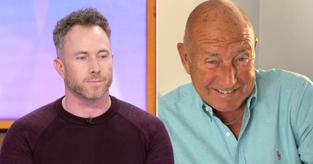 James Jordan pictured separately alongside his dad
