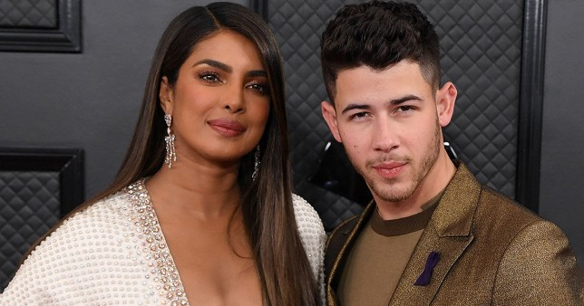 Mandatory Credit: Photo by David Fisher/REX (10532330ju) Priyanka Chopra and Nick Jonas 62nd Annual Grammy Awards, Arrivals, Los Angeles, USA - 26 Jan 2020