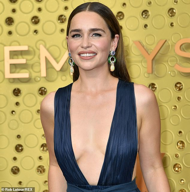 Emilia Clarke (pictured)'s new film, Above Suspicion, is being released in Britain this week