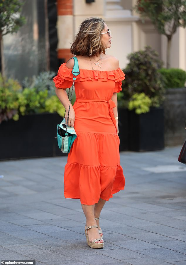 Serving looks: Myleene always puts her best fashion foot forwards on her walks to work