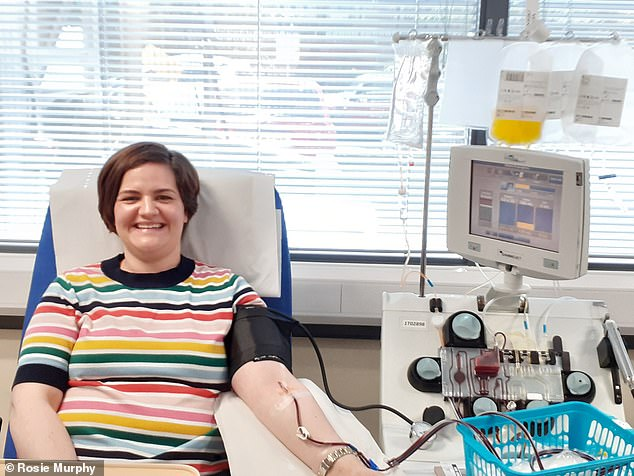 Rosie Murphy, 33, from south-west London, has also donated her antibodies. She said she suffered from very very mild symptoms of the virus