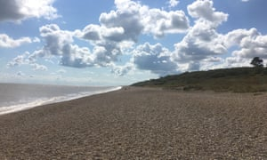 Sizewell beach, below Beach View Holiday Park.