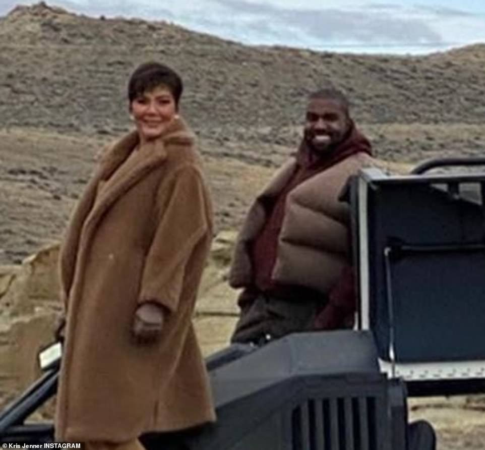Kris Jenner and Kanye West are seen together in this image that Kris posted on Instagram