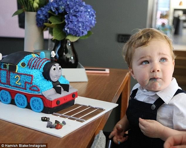 Terrific two! When Sonny was just two, Hamish created a Thomas The Tank Engine cake for the tot