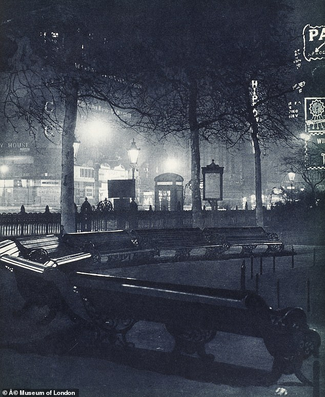 Pictured, Leicester Square at night in the 1920s. The Daily Mail launched an anti-noise campaign to cut down on traffic sounds in 1928