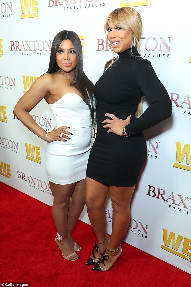 By her side:Braxton's older sister Toni, 52, was seen arriving to the hospital on Thursday night, following Tamar's possible suicide attempt; Toni and Tamar pictured in 2019