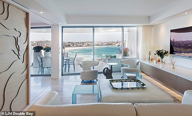 Bachelorette pad: Following her marriage breakdown in 2018, Jackie moved into a two-bedroom, two-bathroom Bondi rental (pictured) last year