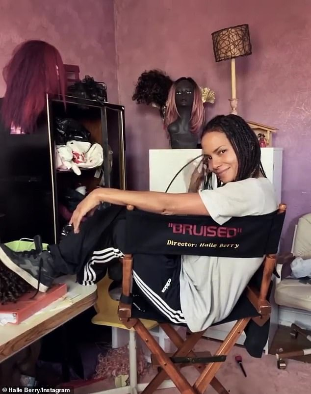 Bruised: According to Berry, the project was pitched to her, while she was 'on the brink of making [the film] Bruised,' which is the actress' directorial debut; Halle pictured on Instagram