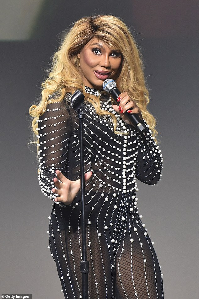 Stable: As of now, Tamar is reportedly in 'stable' condition and currently being 'held under 24-hour watch' at a hospital in the Los Angeles area; Tamar pictured in 2019