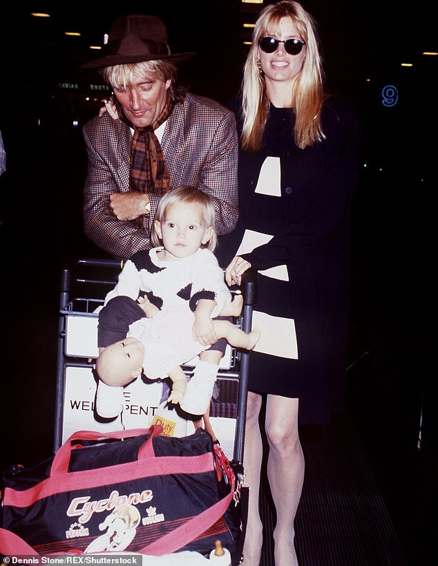 With their little girl: Their daughter was born in 1987 and they split in 1990; seen in 1988