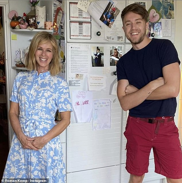 Grateful: Kate Garraway, 53, thanked Myleene Klass, 42, and Roman Kemp, 27, (pictured) for helping with son Billy's 11th birthday bash, on Saturday