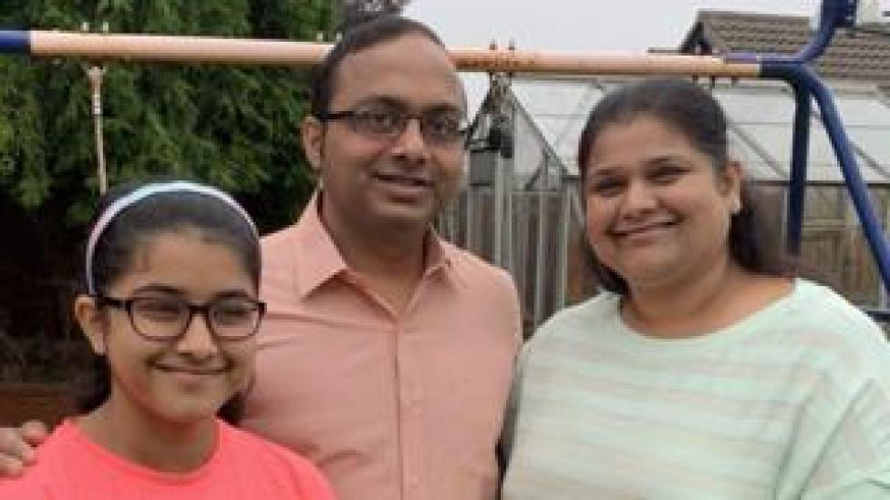 Piyush Madhani and family