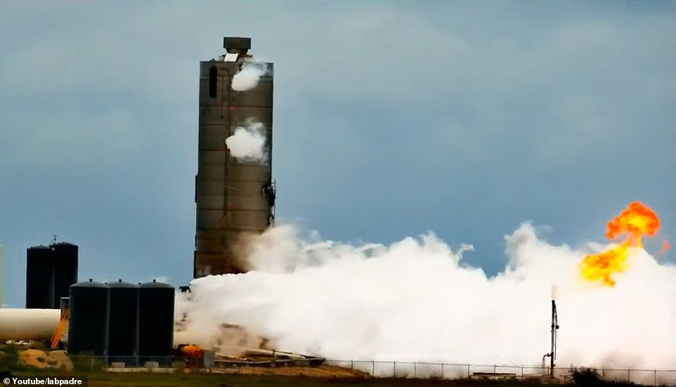 This was the fourth Starship rocket that has been lost while testing - all of the the previous vessels also imploded during testing. It began smoking shortly after the test began