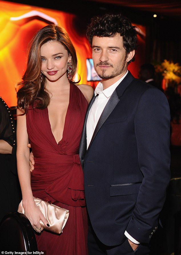 Aussie connection:Orlando is already a father to nine-year-old son Flynn, whose mother is Australian supermodel Miranda Kerr (pictured)