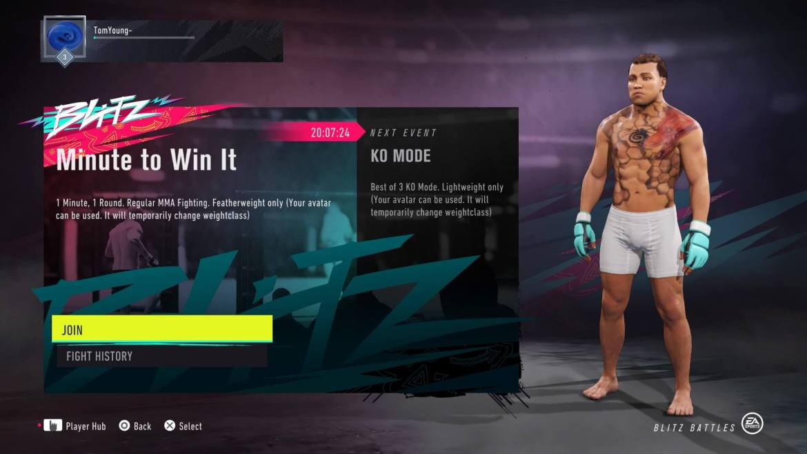 MINUTE TO WIN IT UFC 4