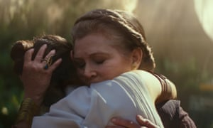 Carrie Fisher in Star Wars: The Rise of Skywalker.